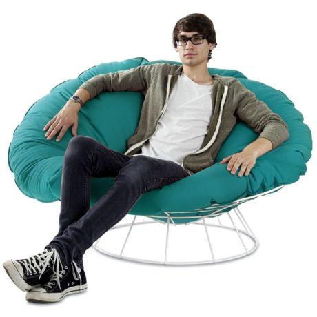 outdoor sessel bulls nest drahtsessel mit auflage modern. Black Bedroom Furniture Sets. Home Design Ideas