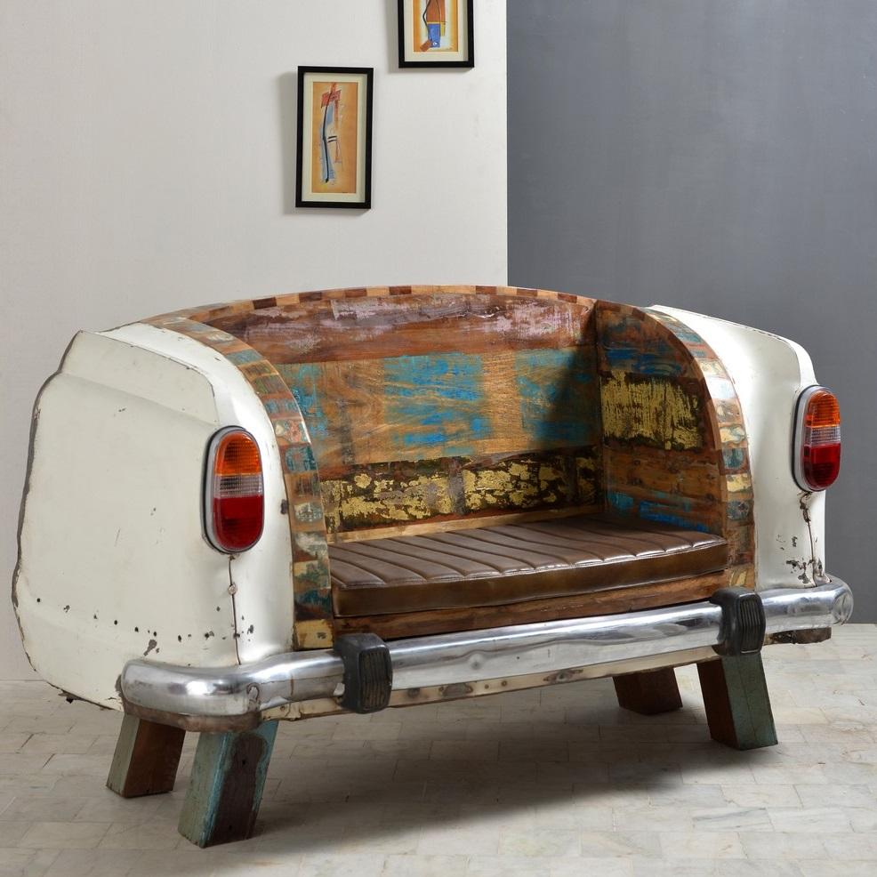 autosofa recyceltes altauto autocouch indien. Black Bedroom Furniture Sets. Home Design Ideas